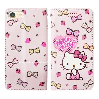 三麗鷗授權 Hello Kitty貓 iPhone 6s Plus 磁力皮套(草莓)