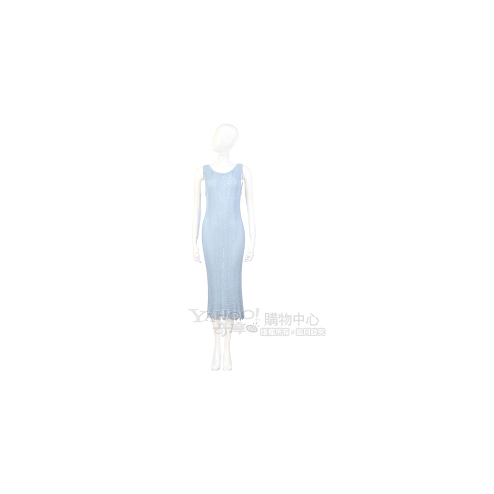 GENNY 水藍色網狀針織洋裝