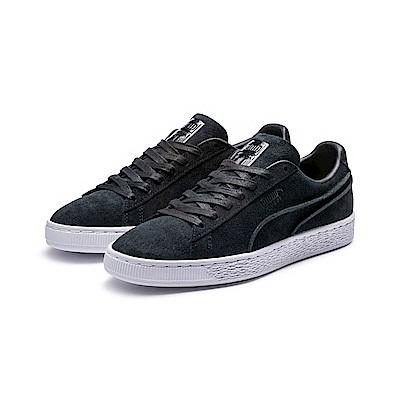 PUMA-SuedeClassicExposedSeams運動鞋-黑