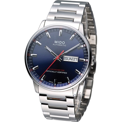 MIDO 美度 Commander 指揮官系列機械腕錶-藍/40mm