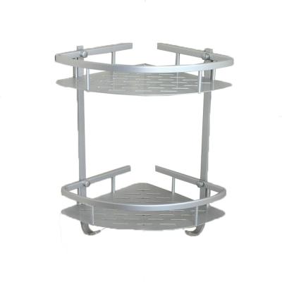 Homeicon 衛浴配件 太空鋁-雙層角落架