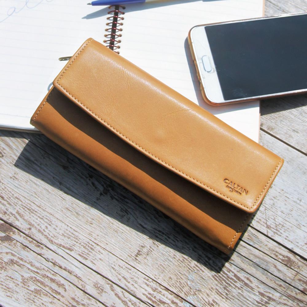 CALTAN-女用長夾 鈔票夾 皮件 多功能 證件夾 名片夾 卡片夾 零錢包-1849ht