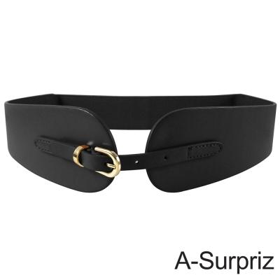 A-Surpriz 都會優雅時尚彈性腰帶(氣質黑)