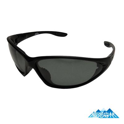 【極地森林】深灰色TAC寶麗萊偏光鏡片運動太陽眼鏡(7444)