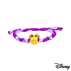 Disney迪士尼金飾 夢想美妮黃金中國繩手鍊-魅力紫