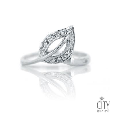 City Diamond『楓葉醉雪』13分鑽戒