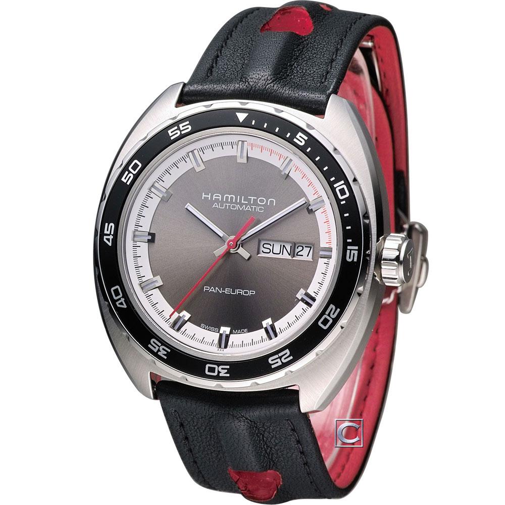 HAMILTON 美國經典PanEUROP 機械套錶(H35415781)-銀灰/42mm
