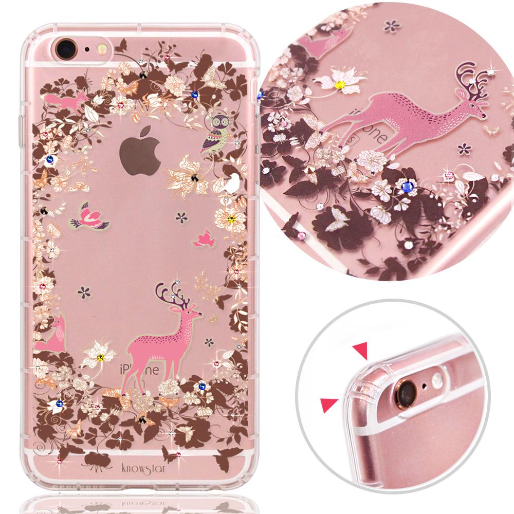 KnowStar APPLE iPhone 6/6s奧地利水晶彩繪防摔氣墊鑽殼-魔幻森林