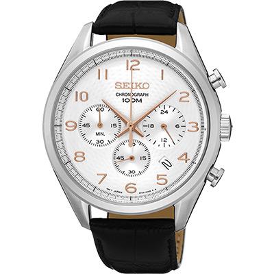 SEIKO CS系列都會計時腕錶(SSB227P1)-銀/42mm