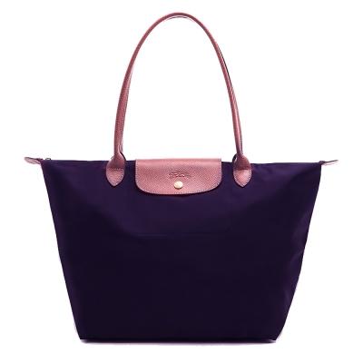 LONGCHAMP Le Pliage 長把摺疊水餃包(大款/深紫色)