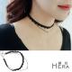 Hera 赫拉  蕾絲花邊雙層綴珍珠短款項鍊/鎖骨鍊/頸鍊(黑色) product thumbnail 1