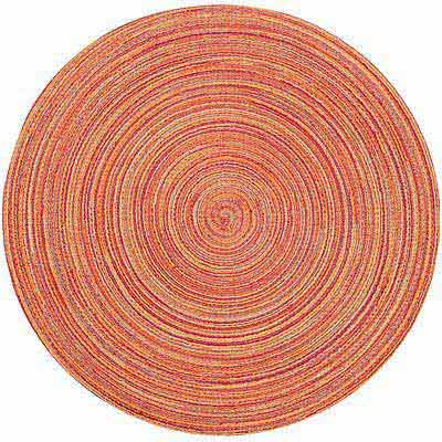 NOW 織紋圓餐墊(橘)