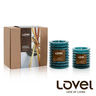 【LOVEL】香氛手工蠟燭組(燈籠系列-南洋)-B組
