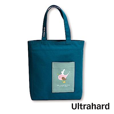 Ultrahard 月見兔閱讀書袋-騎鯨魚(藍)
