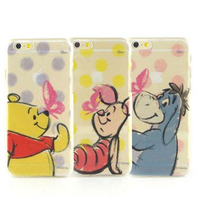 Disney iphone 6 /6s 彩繪手繪風透明保護手機殼-點點系列
