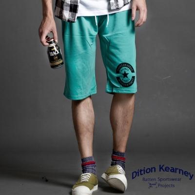 DITION 美式布章STAR健身單車 撞色抽繩棉短褲