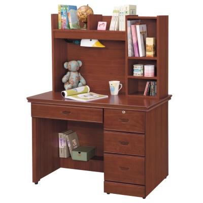 時尚屋 長榮柚木色3.5x4.8尺書桌 寬105cm