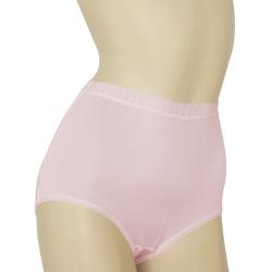 三角褲 100%蠶絲蕾絲高腰內褲2件組M-XL(粉紅) Seraphic