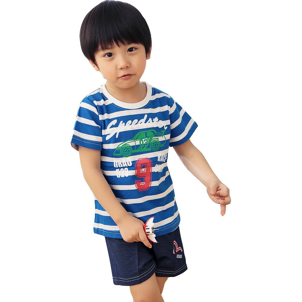 魔法Baby 台灣製兒童短袖圓領衫 k34660