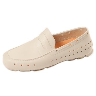 (男/女)Ponic&Co美國加州環保防水洞洞懶人鞋-米色