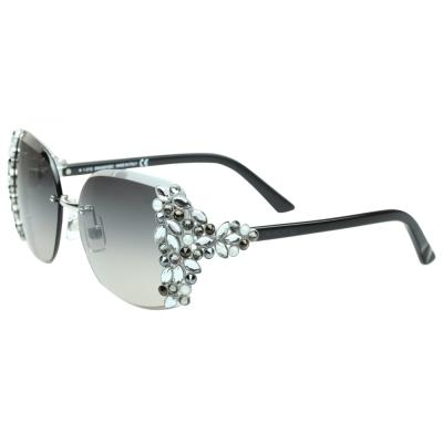 SWAROVSKI-時尚太陽眼鏡-銀色