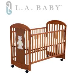 ( 美國 L.A. Baby)卡羅萊納嬰兒中床/搖擺床/童床(咖啡色)