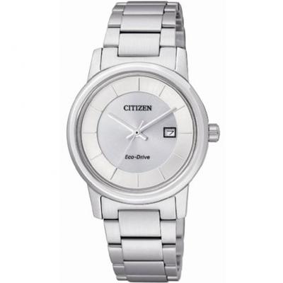 CITIZEN 靜謐優雅光動能女錶(EW1560-57A)-銀白/30mm