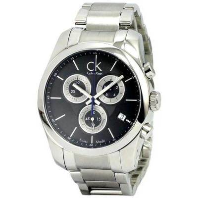 cK strive 爭取系列運動精品風計時腕錶-黑/43mm