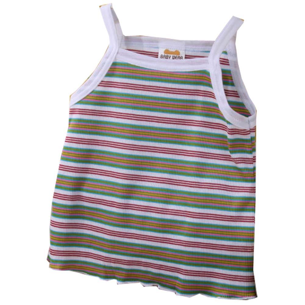 魔法Baby日本製女寶寶純棉細肩帶上衣 k42146