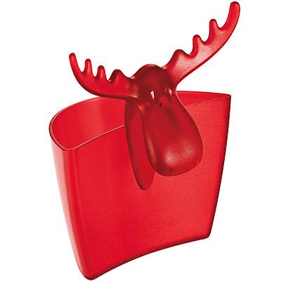 KOZIOL 麋鹿茶包架(透紅)
