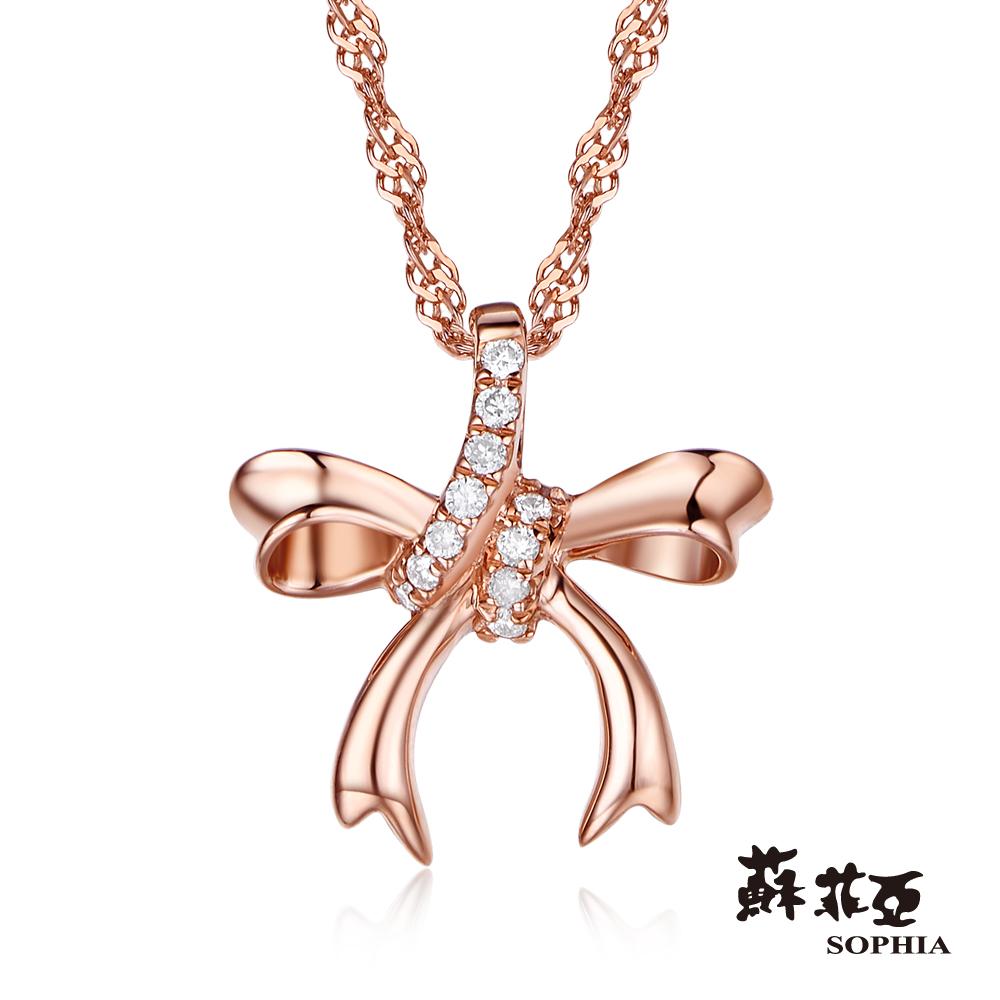 SOPHIA 蘇菲亞珠寶 - 愛戀時光 14K玫瑰金 鑽石項鍊