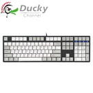 Ducky 創傑 One 銀軸 無背光 PBT熱昇華 白灰帽 機械式鍵盤《中文版》