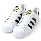 ADIDAS-SUPERSTAR 女休閒鞋C77124-白