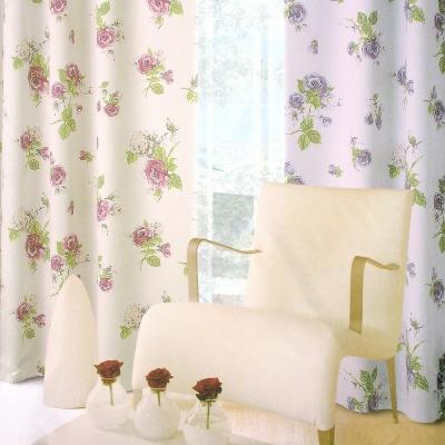布安於室-薔薇穿管式單層遮光窗簾-半腰窗(寬200x高165cm)