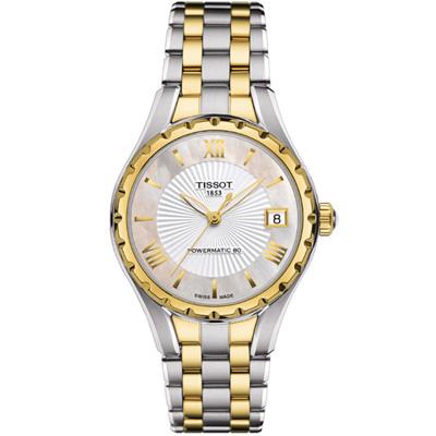 TISSOT天梭LADY 80復刻回憶女錶(T0722072211800)-雙色/26mm