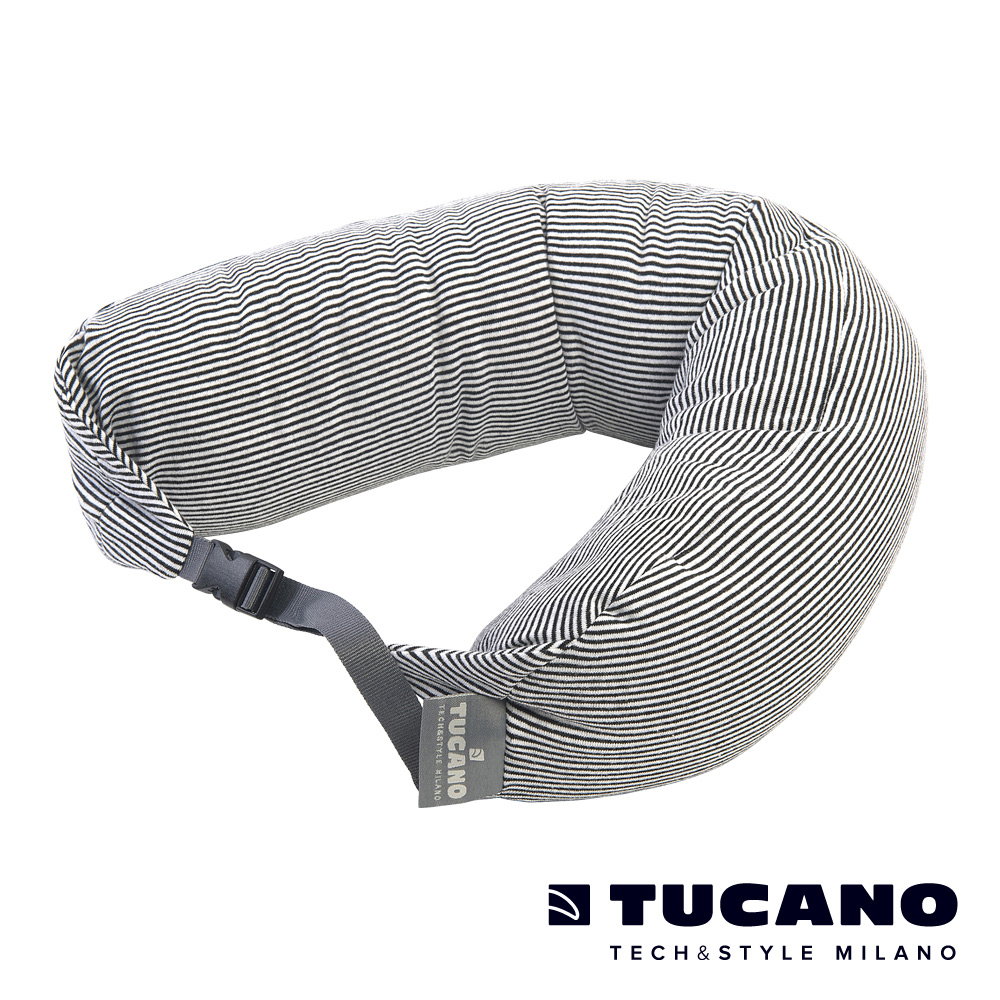 TUCANO Pisolo超舒適旅行枕附眼罩耳塞-黑