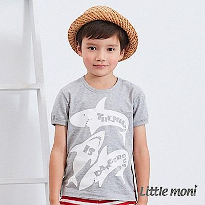 Little moni 鯊魚印圖棉Tee (2色可選)