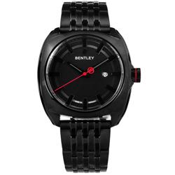 BENTLEY 賓利 日期 日本機芯 德國製造 不鏽鋼手錶-鍍黑/43mm