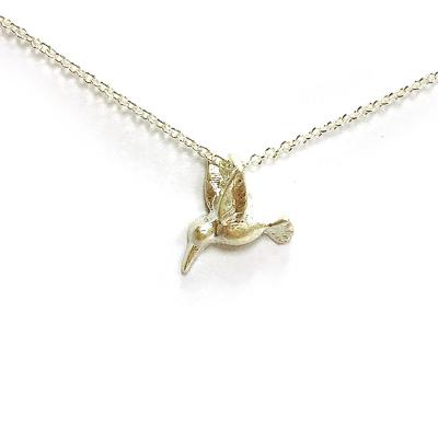 Dogeared 立體蜂鳥 Hummingbird 美麗人生 銀色許願項鍊 附原廠盒