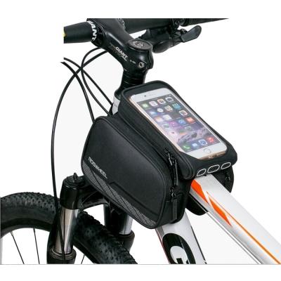 PUSH!自行車用品 第二代5.7吋手機馬鞍型自行車前置物袋手機袋上管袋車前包工具袋A63