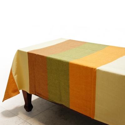 布安於室-色塊純棉桌巾-古樸色系