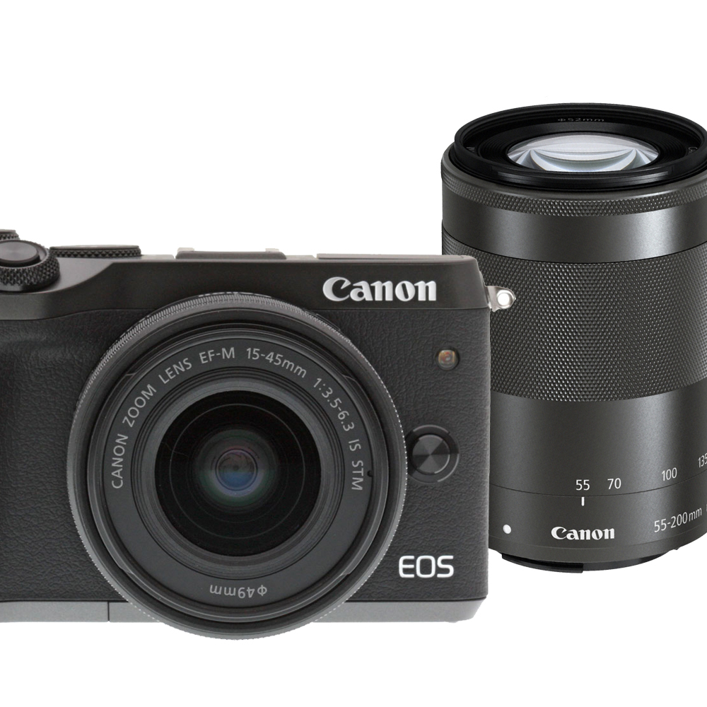 CANON EOS M6+15-45+55-200mm IS STM 雙鏡組*(平輸中文)
