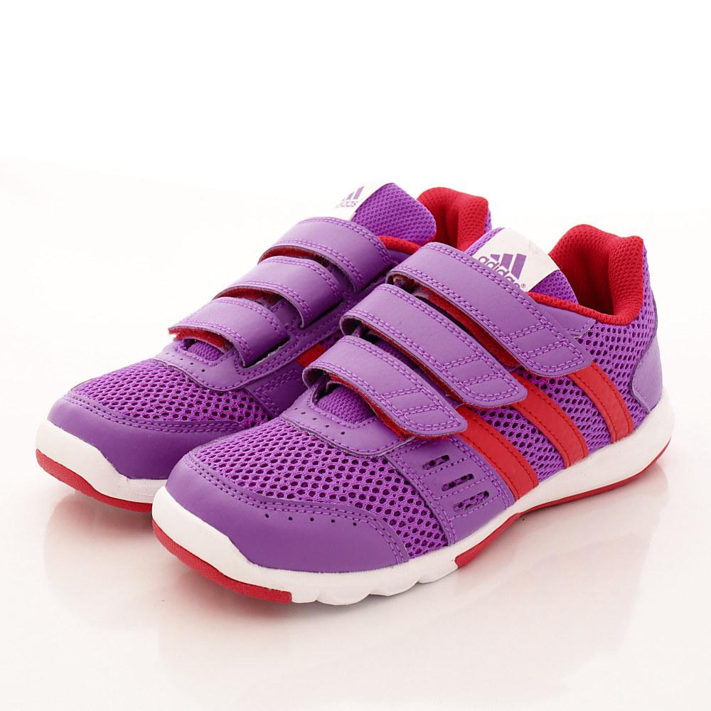 adidas童鞋-透氣慢跑款-QTH658紫(中大童段)HN