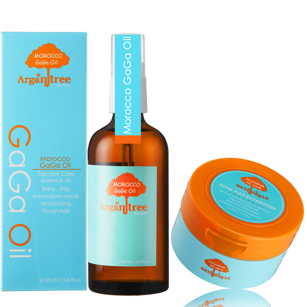 Morocco GaGa Oil 量身訂作摩洛哥護髮油100ml 加送滋養護髮膜100ml