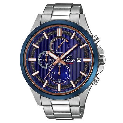 EDIFICE 世界邁動三眼賽車腕錶-EFV-520DB-2AVUDF-46mm