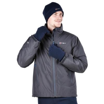 【Berghaus貝豪斯】男款GT2合1高科技棉防水外套H22MU5-灰