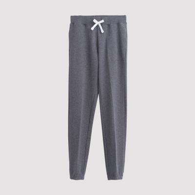 Hang Ten - 女裝 - 運動潮流素面直筒棉褲 - 灰