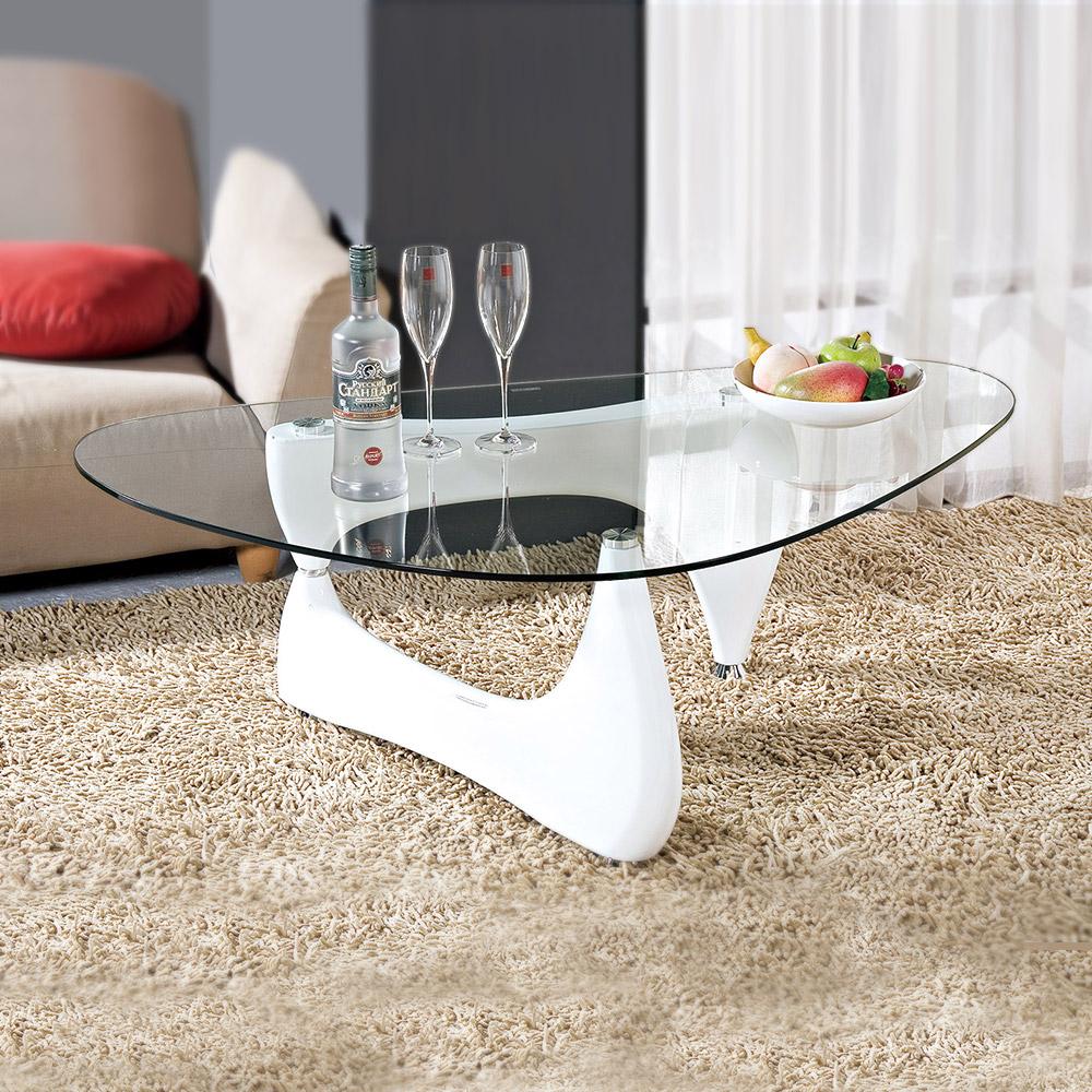 Boden-艾森豪時尚玻璃大茶几-白色