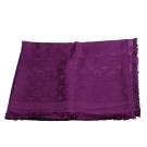 LV M74243 經典Monogram花紋羊毛混絲披肩/圍巾 (紫色)