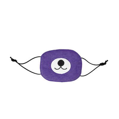 Yvonne Collection小白熊口罩-紫